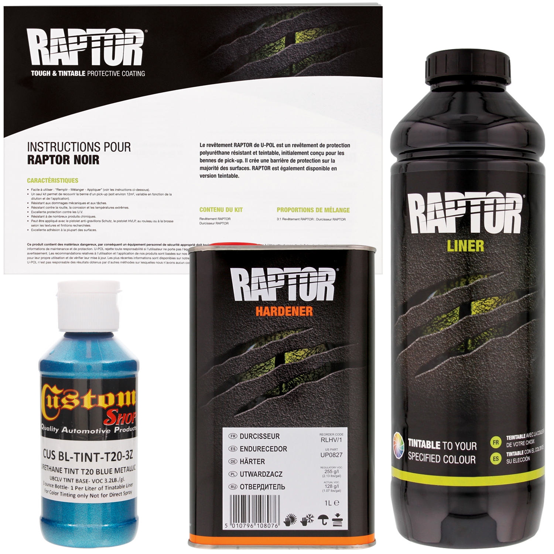Raptor Blue Metallic Urethane Spray On Truck Bed Liner