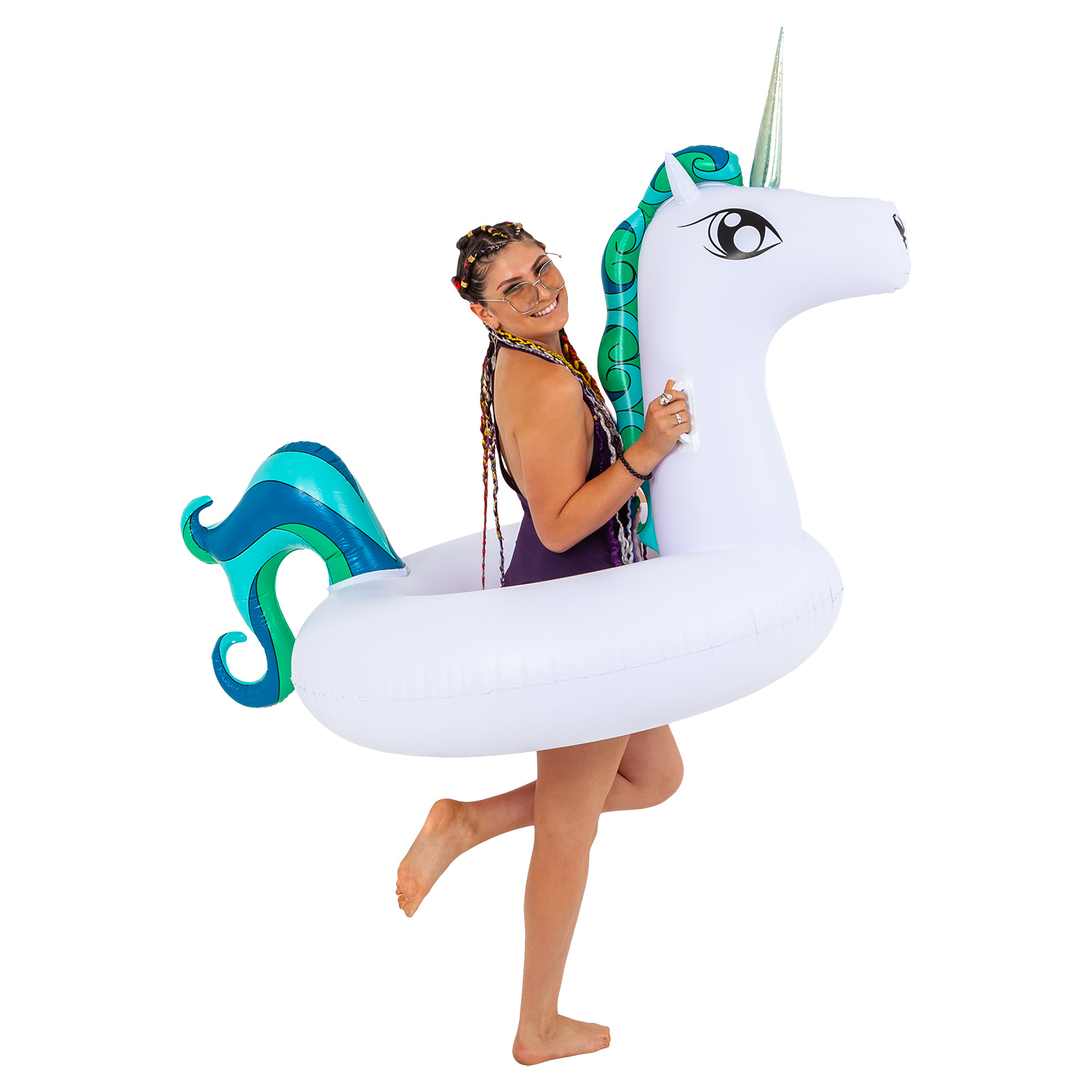 Giant 6 Ft Inflatable Tropical Unicorn Pool Ring Float Fun Party Toy Kids Adult 848849006988 Ebay