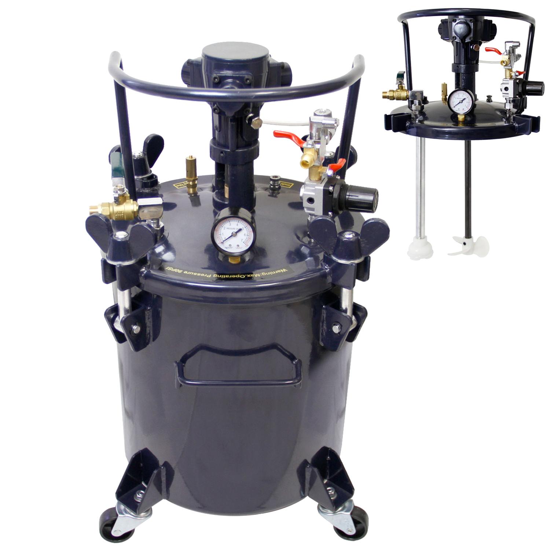 Pressure Paint Gun Pot : Gallon pressure feed paint pot tank spray gun sprayer