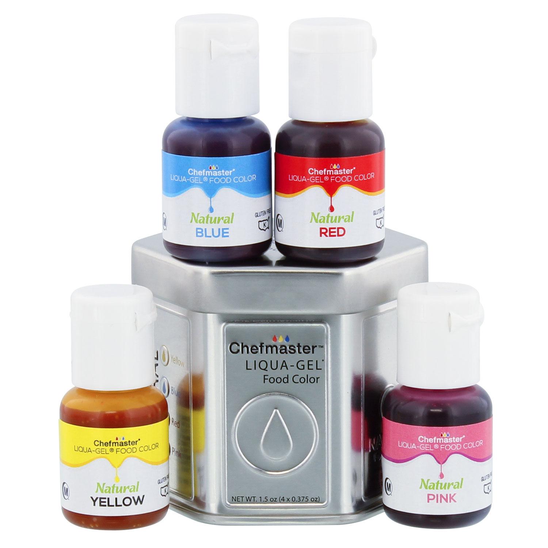 U.S. Cake Supply 4 Color Liqua-Gel All Natural Plant Based Food ...