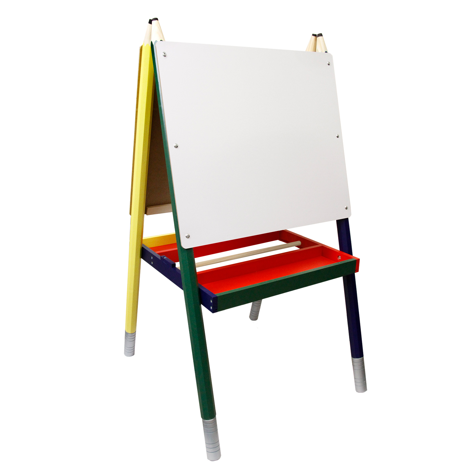 Children 39 S Paint Drawing Kids Art Easel With Chalkboard