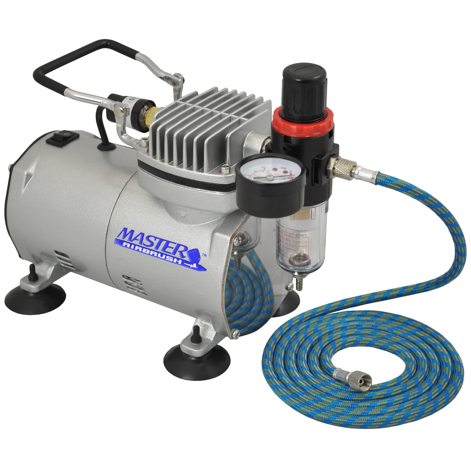 Quiet pro airbrush compressor w air regulator water trap for Air compressor for auto painting
