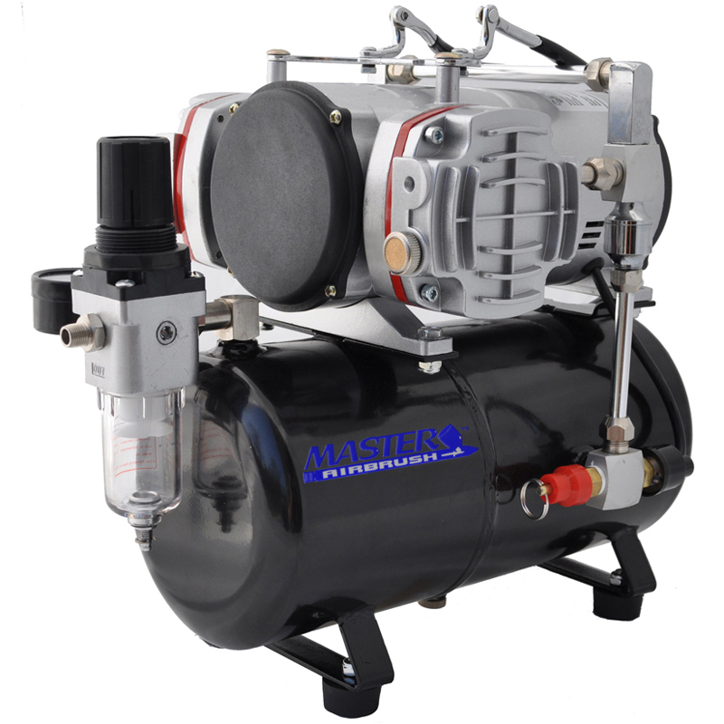 Pro Powerful Twin Cylinder Piston Airbrush Air Compressor