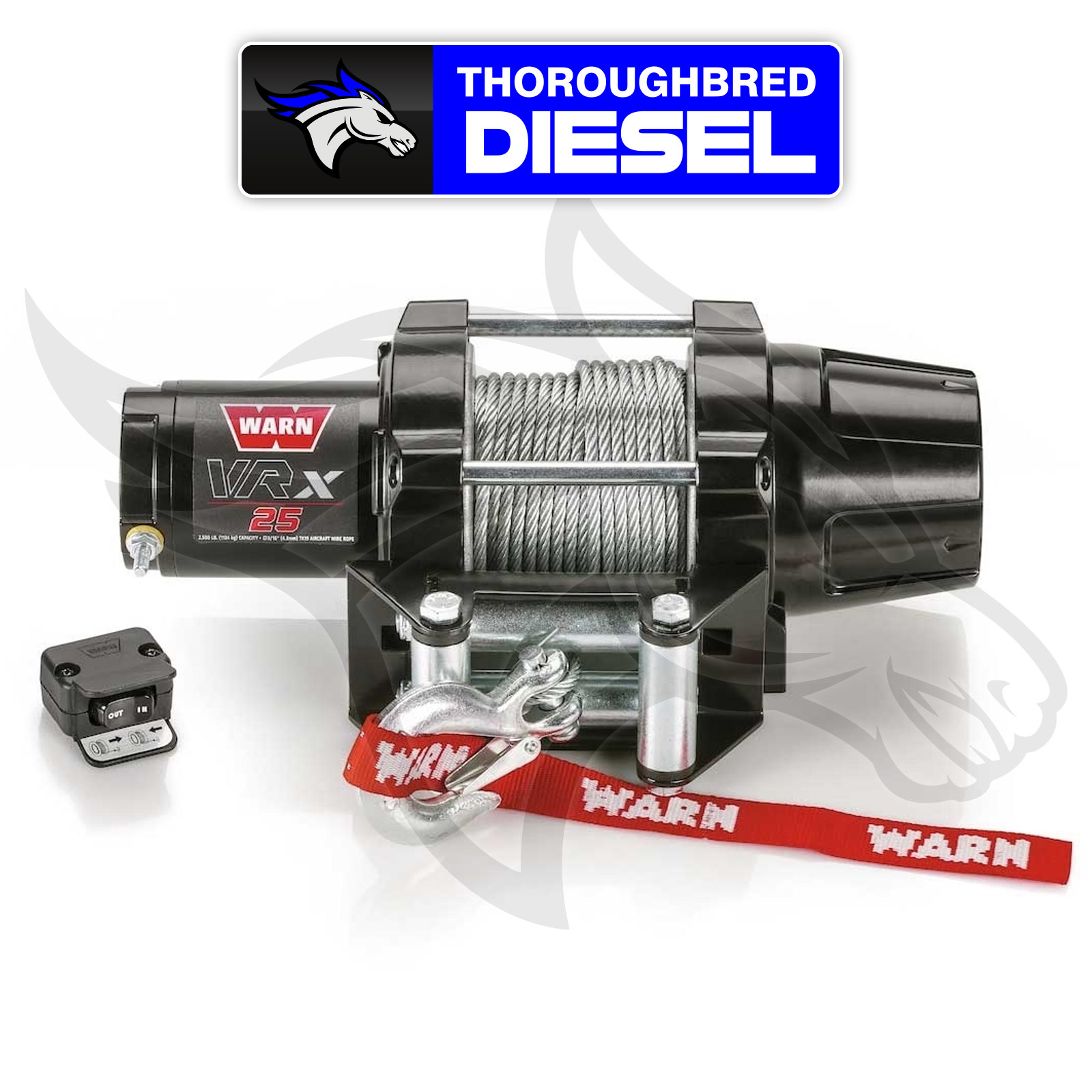 Cable Warn 101025 VRX 25 Electric Winch 2,500 lbs. Roller Fairlead 50 ft