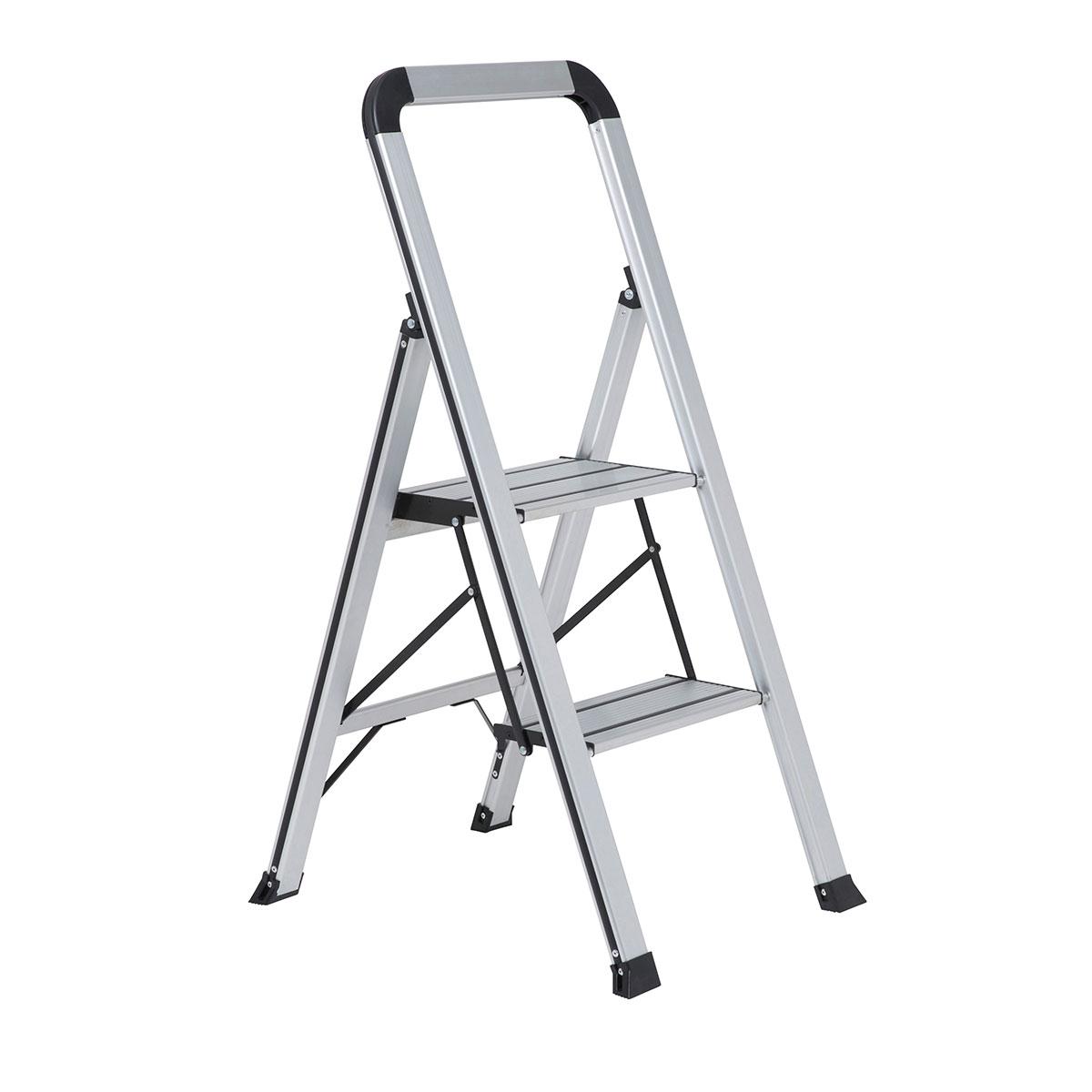 Wolf 2 Step Ladder With Aluminium Slimline Folding Frame