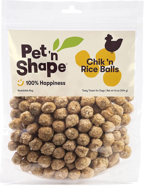 Pet 'n Shape Chicken Dog Treats, Chik 'n Rice Balls, 1 Pound