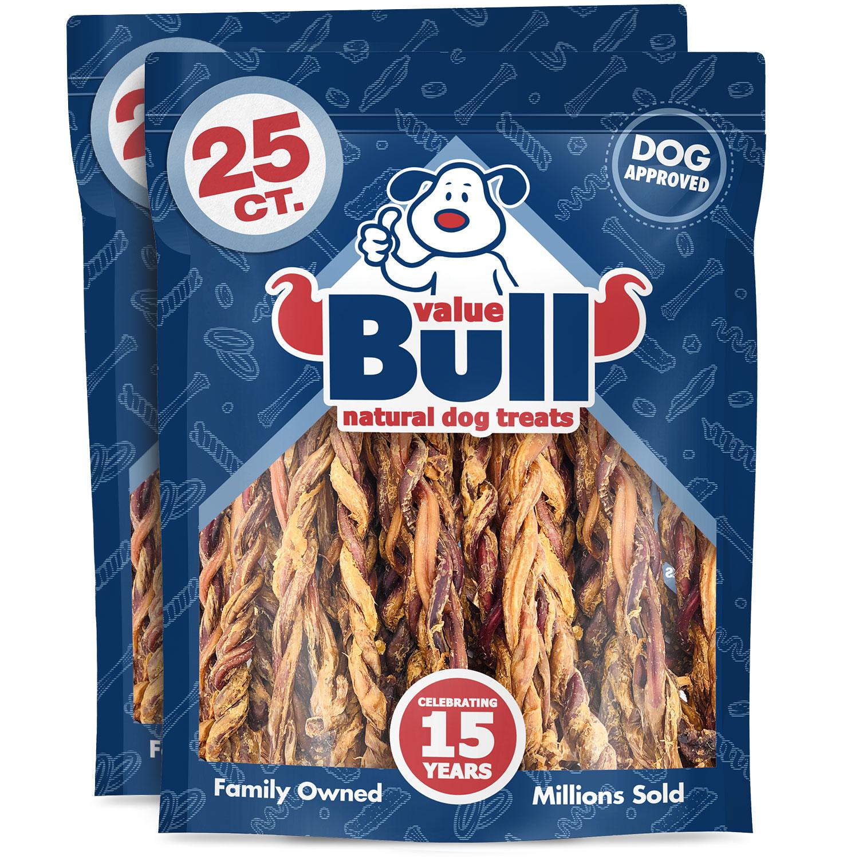 ValueBull Premium Pizzle Twists, Lamb 10-12 Inch, 50 Count