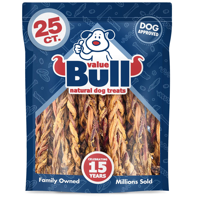 ValueBull Premium Pizzle Twists, Lamb 10-12 Inch, 25 Count
