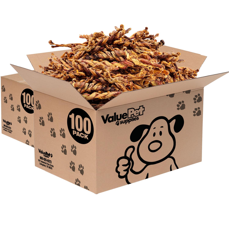 ValueBull Premium Pizzle Twists, Lamb 10-12 Inch, 200 Count