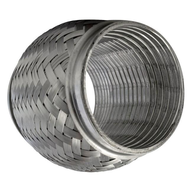 "2.5/"" ID x 4/"" Long 2.5/"" Exhaust Flex Pipe Stainless Steel w// Interlock Liner"