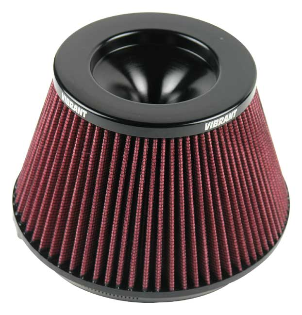 Quot inlet vibrant bellmouth velocity stack air filter