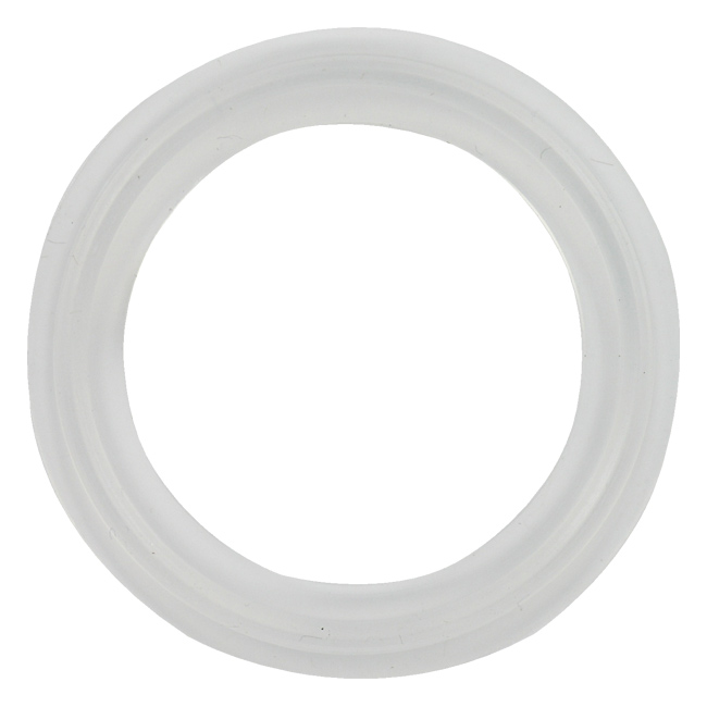 Platinum cured silicone sanitary tri clamp gasket clear