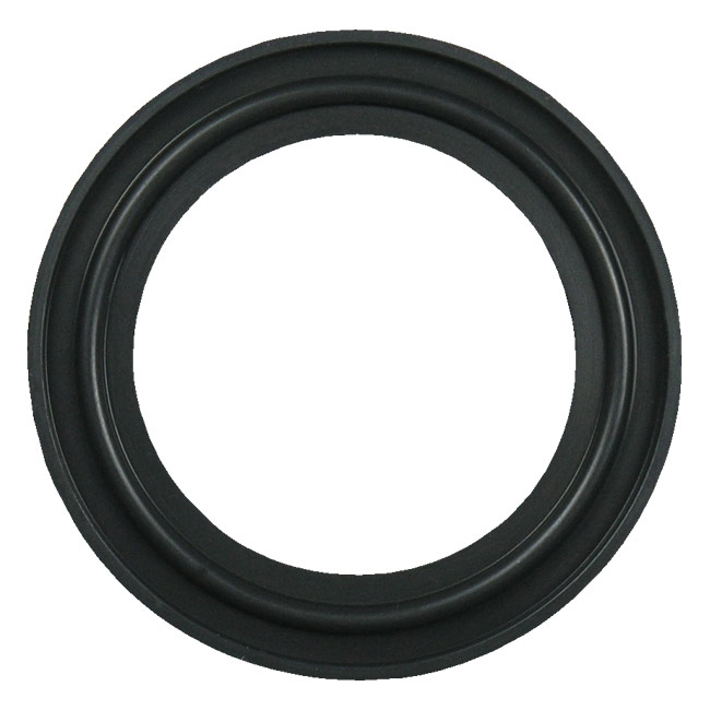 Fkm sanitary tri clamp gasket black quot flanged ebay