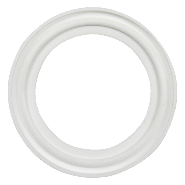 Platinum cured silicone sanitary tri clamp gasket white