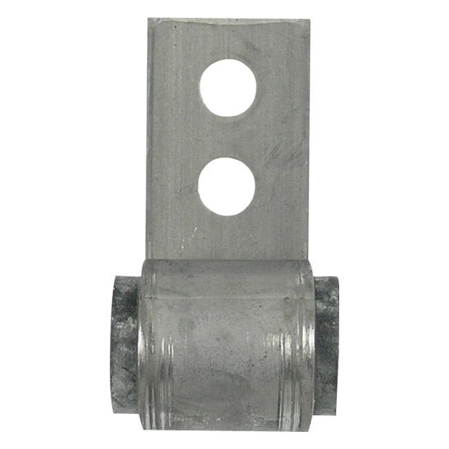 Universal exhaust bracket w round rubber grommet for