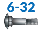 6-32 Carriage Bolts