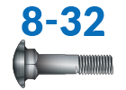 8-32 Carriage Bolts