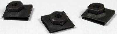 (10-32) C33945-1032-4 Tinnerman U-Type Nut Retainers / Steel / Black Phos