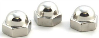 5/8-11 Closed End Acorn Nuts / Low Crown / 18-8 Stainless Steel
