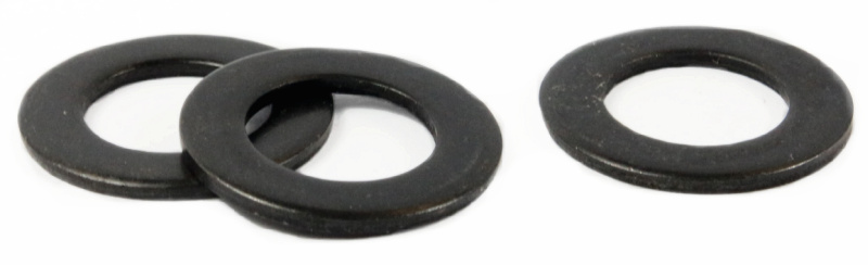 "3/8"" USS Flat Washers / Steel / Black Oxide"