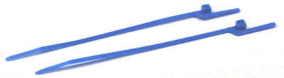 """6"""" (30 lbs Tensile ) EZ-Off® Cable Ties / Nylon / Blue"""