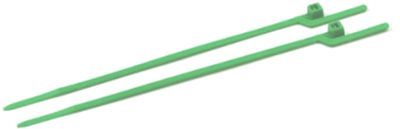 """6"""" (30 lbs Tensile ) EZ-Off® Cable Ties / Nylon / Green"""