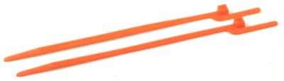 """6"""" (30 lbs Tensile ) EZ-Off® Cable Ties / Nylon / Orange"""
