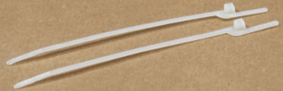 """6"""" (30 lbs Tensile ) EZ-Off® Cable Ties / Nylon / Natural (White)"""