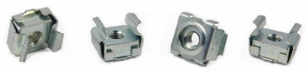 1/4-20 Cage Nuts / Steel / Zinc / C7998-1420-3B