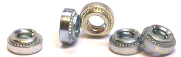 1/4-20-3 Self Clinching Nuts / Steel / Zinc