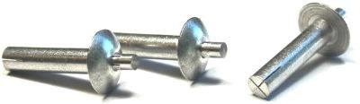 """1/4"""" x 5/16"""" Brazier Head Drive Pin Rivets / All Aluminum"""