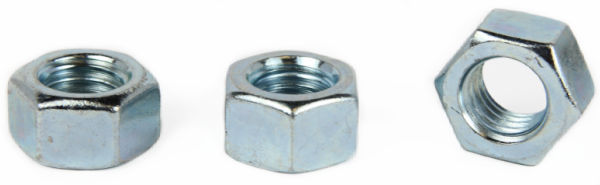 3/8-16 Left-Hand Threaded Hex Nuts / Steel / Zinc