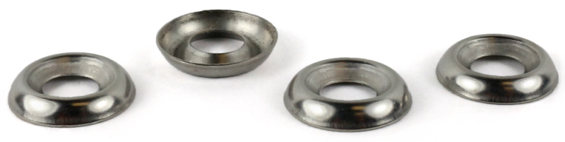 #8 Countersunk Finishing Washers / Steel / Nickel