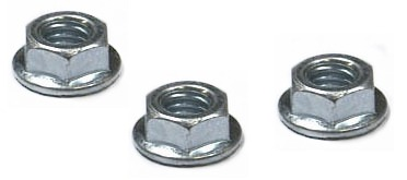 M10-1.5 Hex Flange Nuts / Non-Serrated / Class 10 / Zinc / DIN6923