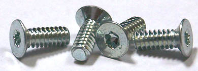 "2-56 x 1/2"" Machine Screws / Six-Lobe (Torx®) / Flat 100 Head / 18-8 Stainless Steel"