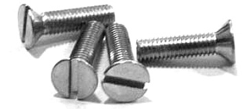 "6-32 x 2"" Machine Screws / Slotted / Flat Head / Steel / Zinc"