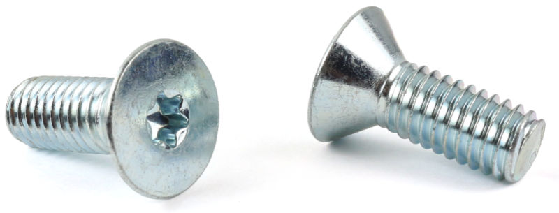 M6-1.0 x 45 mm Machine Screws / Six-Lobe (Torx®) / Flat Head (90 Deg.) / Steel / Zinc / ISO14581