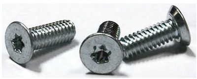 "8-32 x 1/4"" Machine Screws / Six-Lobe (Torx®) / Flat Undercut Head / Steel / Zinc"