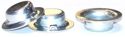 5/8 Hat-Style Push-On Fasteners / Steel / Zinc