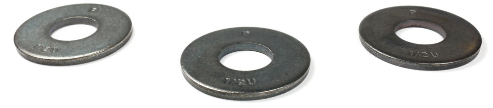 "1/4"" USS Heavy Duty Thru Hard Washers / Steel / Plain / Made in USA"