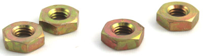 1/2-20 Hex Jam Nuts / Steel / Zinc Yellow