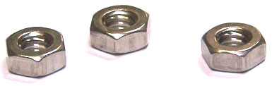 M10-1.5 Finished Hex Nuts / 316 (A4) Stainless Steel / DIN934