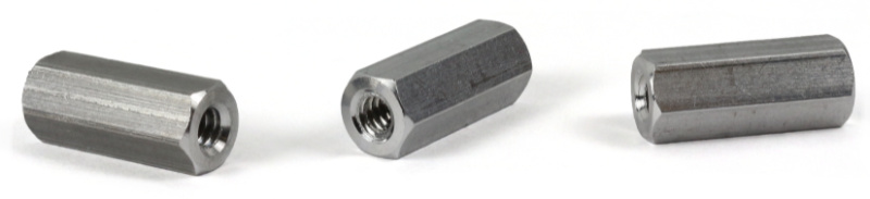 "3/8"" OD Hex Standoffs (Female-Female) / 8-32 x 7/16"" / Stainless Steel"