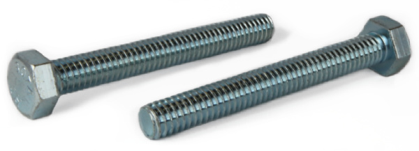 "1-8 x 8"" Hex Tap Bolts / Steel / Zinc"