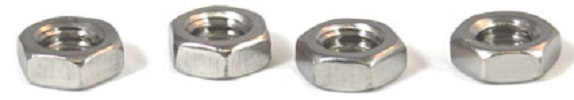 1 1/8-12 Hex Jam Nuts / Steel / Plain