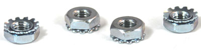 3/8-16 Hex Keps Nuts / Steel / Zinc Yellow