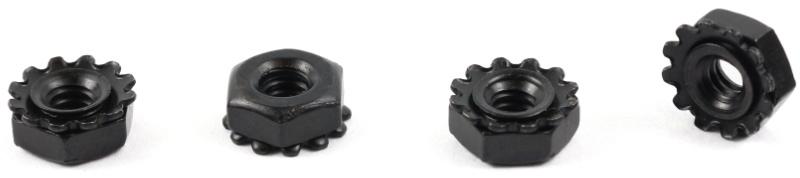 8-32 Hex Keps Nuts / 18-8 Stainless Steel / Black Oxide