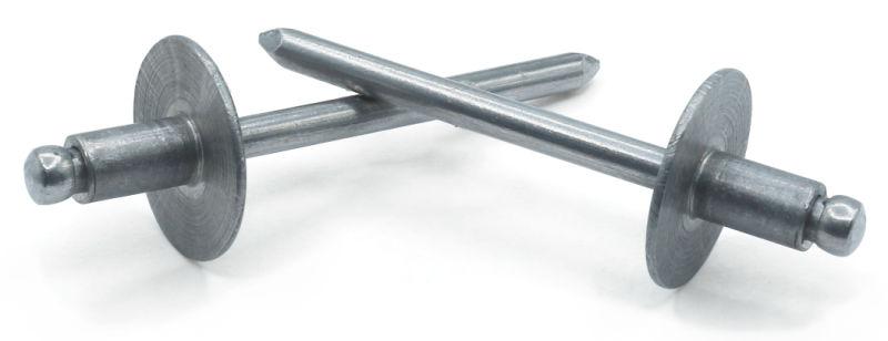 "5/32"" x .50""-.62"" (#510) Large Flange Blind Rivets / Aluminum Body / Steel Mandrel"