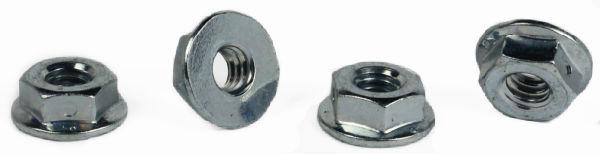 3/8-16 Centerlock Hex Flange Nuts / Steel / Zinc