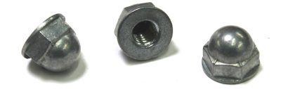 5/16-18 Washer-Based Acorn Nuts / Closed End / Diecast Zinc Alloy